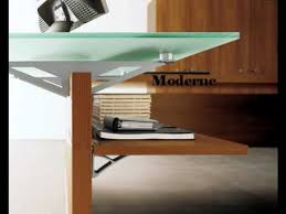 bureau vitre bureau verre et bois