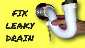 repair leaky sink drain pipe youtube