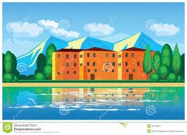 mediterranean mansion mediterranean mansion stock vector image 50199657