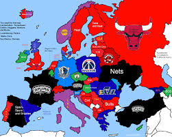 map of nba teams can european cities support an nba franchise european