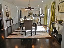 dining room interior ideas with black and white striped pattern