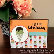 qe card cool treats birthday card unfrogettable stamping