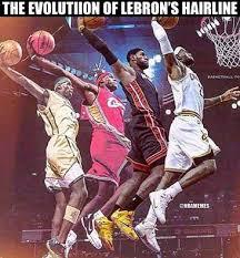 Lebron Hairline Meme - memes of lebron james balding make the offseason funnier sportige
