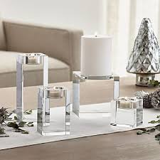 Crystal Candle Sconces Candle Holders Votive Pillar And Lantern Crate And Barrel