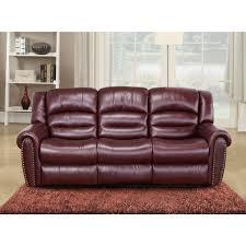 Meridian Furniture S Chelsea Burgundy Leather Sofa W Nailhead - Chelsea leather sofa