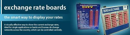 exchange bureau de change exchange rate board led rate display signs exchange rate