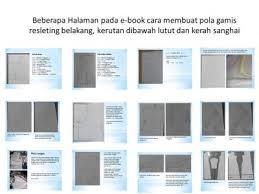 dasar membuat pola baju ebook download cara menjahit gamis resleting belakang kerutan dibawah lutut dan