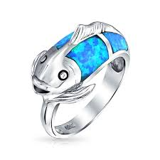 eclectic fish ring holder images Blue rings jewelry images jpg