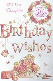 50th birthday cards with on your 50th birthday card co uk