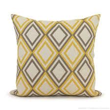 16x16 decorative throw pillow cover mustard yellow bird print on