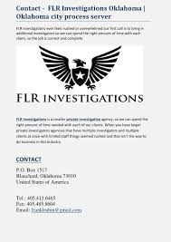 United Process Service Contact Flr Investigations Oklahoma Oklahoma City Process Server