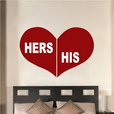 online get cheap his and her wall stickers aliexpress com
