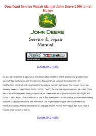 download service repair manual john deere 250 by penney kijowski