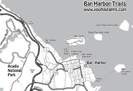 Acadia National Park Map Harbor Trail Map