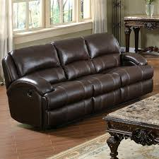 Brown Leather Reclining Sofa by Capri Dark Brown Leather Recliner Sofa Dcg Stores