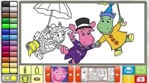 backyardigans coloring book game 2014