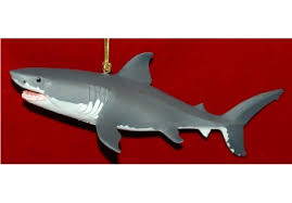 great white shark ornament personalized