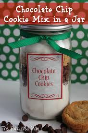 Cookie Mix In A Jar Christmas Gifts Chocolate Chip Cookie Mix In Jar The Exhausted Mom Mason Printable