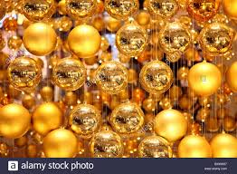 Decorate Christmas Tree Big Balls by Christmas Decoration In A Shopping Mall Many Golden Christmas