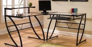 Desk Review Z Line Belaire Glass L Shaped Computer Desk Review Gaming