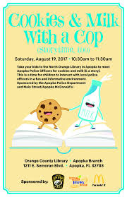 cookies u0026 milk with a cop this saturday the apopka voice