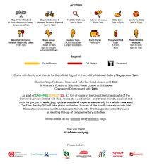 Singapore Flag Icon Launch Of Car Free Sunday Sg On 28 Feb 16 Singapore Athletics