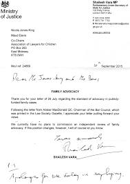 letter from shailesh vara mp regarding family advocacy news