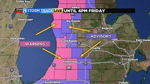 Chicago Weather Map by Lake Effect Snow Continues Falling Into Second Day Woodtv Com