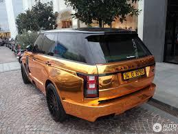 gold range rover land rover hamann range rover mystère 29 october 2015 autogespot