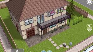 sims freeplay traditional house with a garage original house