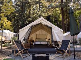tent building airstream and dan weber architecture create autocamp russian river