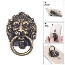 metal lion ring holder images 3d lion head ring holder metal retro phone bracket bronze lion jpeg