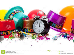 new year supplies happy new year celebration supplies on white stock images image