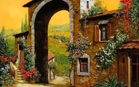 tuscany village wallpaper scenery pinterest barbie house