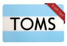 gift cards 25 toms gift card toms