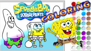 spongebob squarepants speed coloring pages squidward diy drawing