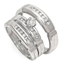 wedding ring trio sets wedding rings trio wedding ring sets walmart cheap bridal sets
