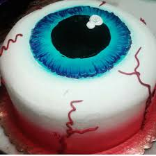 frosted art eyeball cake halloween cake decorating