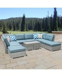 Cushions For Wicker Patio Furniture Bargains On Corvus 10 Grey Wicker Patio Furniture