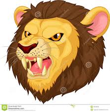 angry lion head mascot cartoon royalty free stock images image