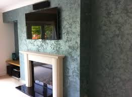stylish wall covering using grey textured wall finishes on modern