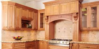 pine unfinished kitchen cabinets with plates rack and granite