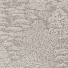 sanderson woodland toile wallpaper linen gilver