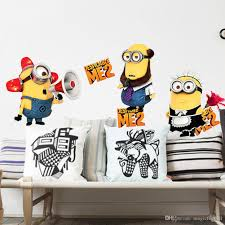 cute cartoon minions wall art decal sticker home decoration material pvc size pack one piece wall decal
