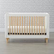 lolly white natural convertible crib