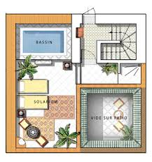 moroccan riad floor plan terrace courtyard homes pinterest moroccan architecture and