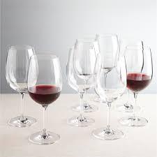 viv big red wine glasses set of 8 crate and barrel