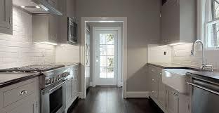 gray galley kitchen design ideas
