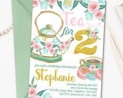 tea party invitation etsy