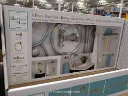 Nickel Finish Bathroom Accessories by Sheffield Home 5 Piece Bath Set